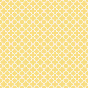 Pastel Yellow Quatrefoil Pattern
