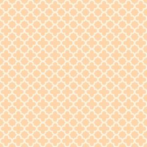 Pastel Orange Quatrefoil Pattern