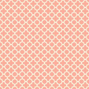 Pastel Red Quatrefoil Pattern
