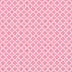 パステルピンクの四つ葉のパターン
