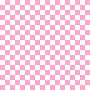 ピンクと白の市松模様