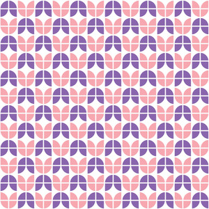 Pink And Purple Tulip Pattern