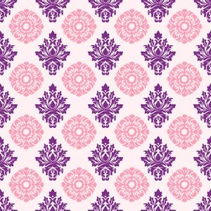 ピンクと紫の装飾模様