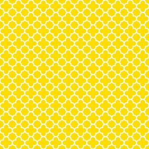 黄色と白の四葉柄