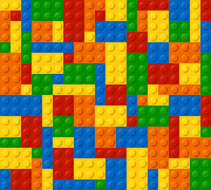 Plastic Blocks Seamless Vector Background