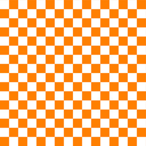 Orange And White Checkerboard Pattern