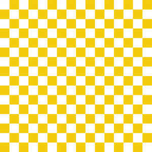 노란색과 흰색 바둑판 무늬