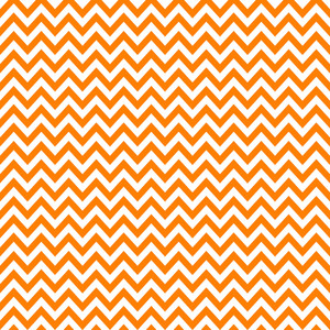 Orange And White Chevron Pattern