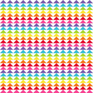 Rainbow Triangles Pattern