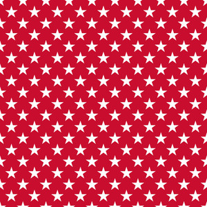 White Stars Pattern On A Red Background