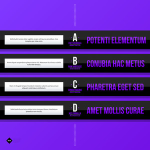 Menu Template With Horizontal Options/banners. Eps10 Vector Template