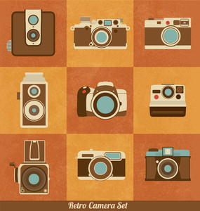 レトロカメラのセット