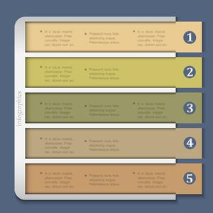 Retro Design Template For Infographics