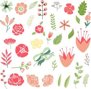 레트로 꽃 배경