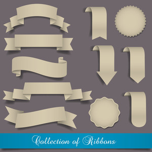 Retro Ribbons And Labels
