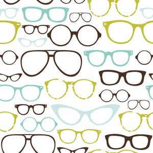 レトロなシームレスな眼鏡