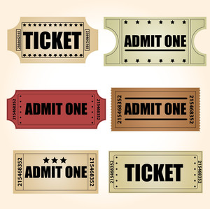 Retro Tickets Vectors