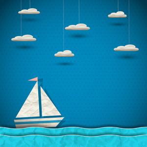 セーリングボートと雲