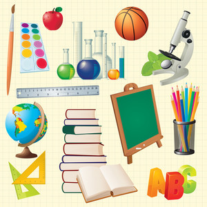 Science Back To School Vector Design Elements.