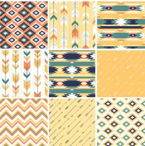 アステカスタイルでシームレスな幾何学的パターン。生地や紙やスクラップブックへの印刷に最適です。