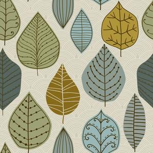 잎 원활한 패턴
