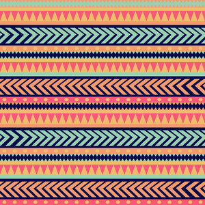 원활한 벡터 부족의 질감입니다. 부족 벡터 패턴입니다. 다채로운 민족 스트라이프 패턴입니다. 기하학적 테두리. 전통적인 장식입니다. 손 추상적 인 배경을 그린. 패턴 벽지 채 웁니다
