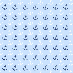 白と青のアンカーパターン