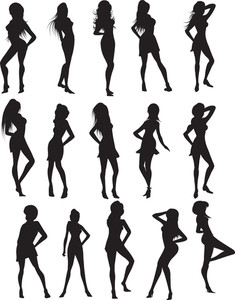 Set Of Beautifull Silhouettes