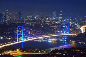 Estambul, Turquía Puente del Bósforo