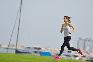 Woman Jogging At Morning