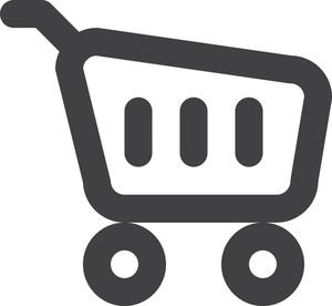 ショッピングカートストロークアイコン
