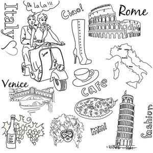 イタリアDoodles-で観光