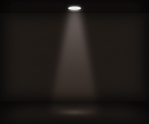 Single Spotlight Room Background