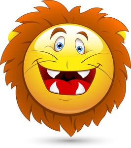Smiley Vector Illustration - Lion Head