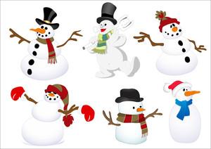 雪だるまのキャラクターベクトル