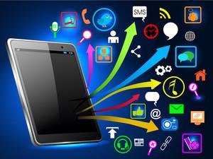 ネットワークアイコンでソーシャルネットワークコミュニケーション。
