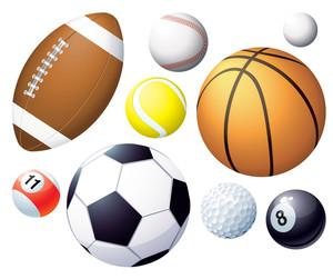 スポーツボール。ベクター。