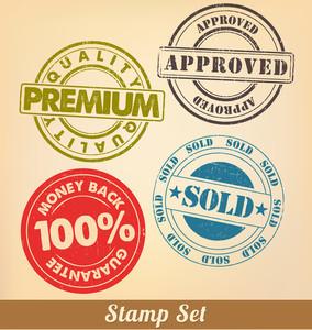 スタンプセット - インクの切手のコレクション