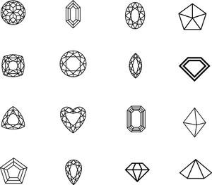 図2dダイヤモンドは設定します