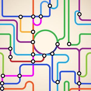 Mapa del metro sin fisuras