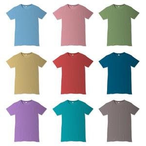 様々な色でTシャツのベクトルのデザインテンプレート