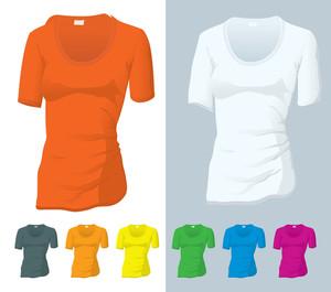 Tシャツベクトルテンプレート。