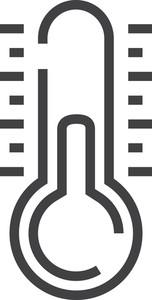 Thremometer Minimal Icon
