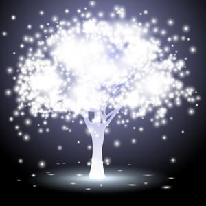 Árbol hecho de luces