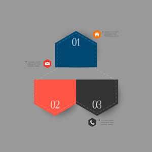 インフォグラフィックのためにトレンディなデザインテンプレート