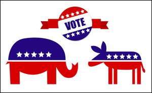 Usa Election Day Symbol Vector Graphics Set