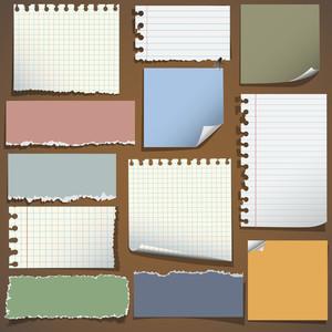 様々なノートペーパー