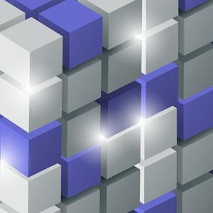 Vector Background Con cubi 3d