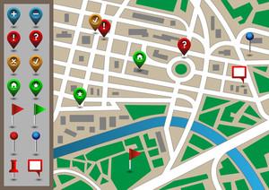 ベクトル市の地図