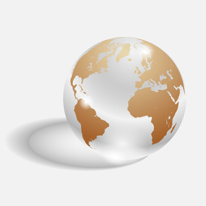 Vector Glass Globe
